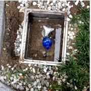 散水栓からの水漏れ