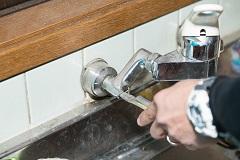 キッチンで水漏れ